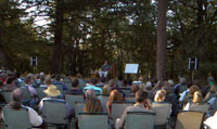 Guy's Talk Under the Pines